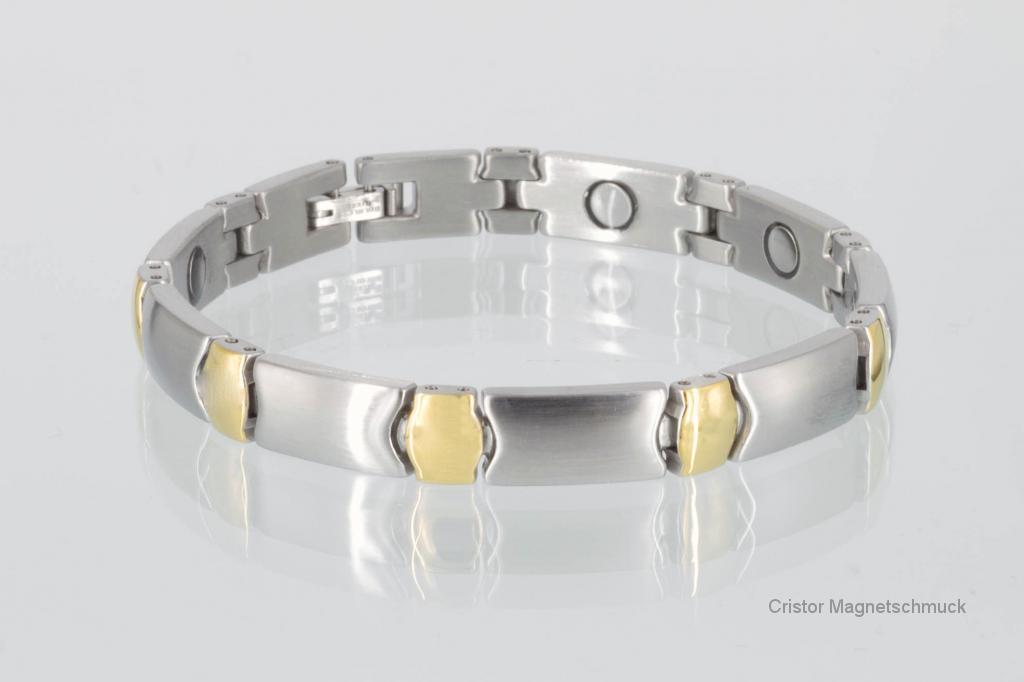 8482B - Magnetarmband bicolor