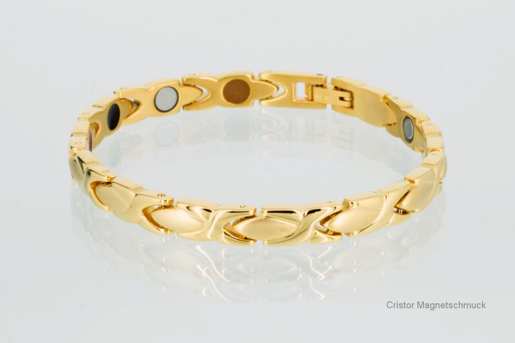 E8011G - 4-Elemente Armband goldfarben