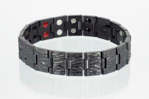 TE8422BL - Doppelreihiges 4-Elemente Armband schwarz