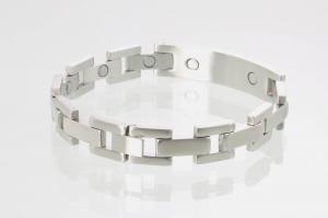 8032S - Magnetarmband silberfarben