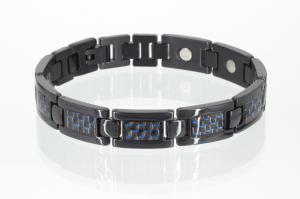 T8201BLc - Titan-Energiearmband schwarz mit Carbonfasereinlage