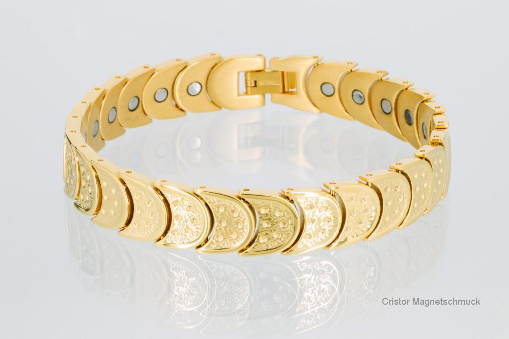 8283G - Magnetarmband goldfarben