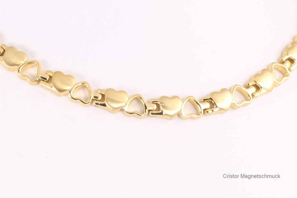 HE9035G - 3-Elemente Halskette goldfarben