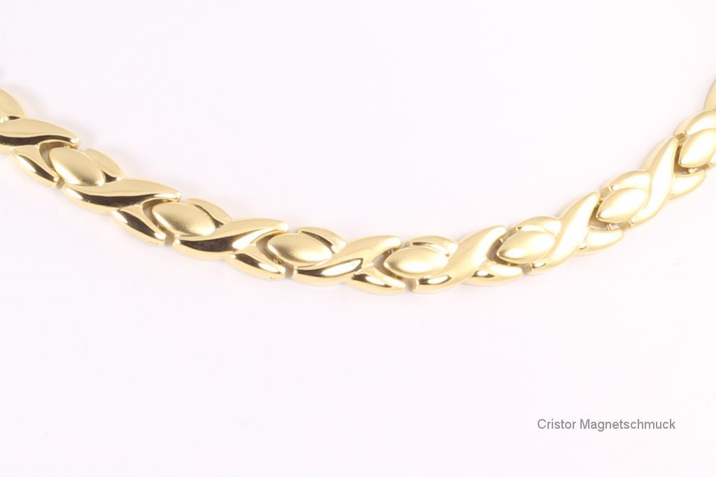 HE9024G - 4-Elemente Halskette goldfarben