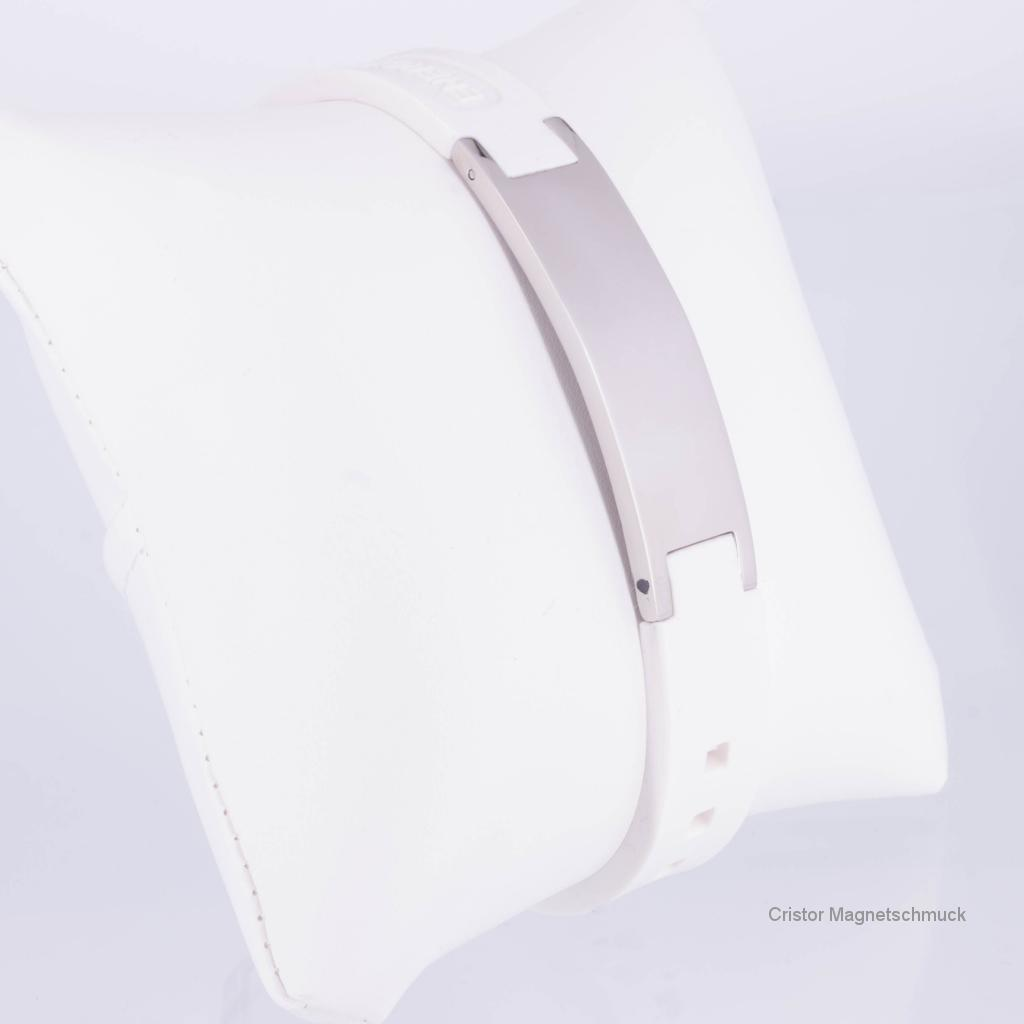 KEW9020S - Energiearmband in silber weiß