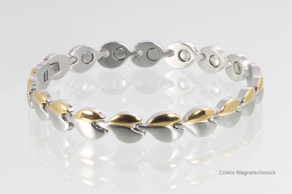 H9017BSet - Halskette und Armband im Set bicolor