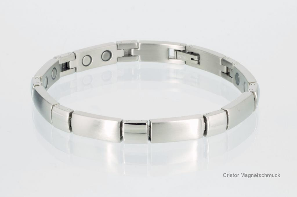 8647S - Magnetarmband silberfarben