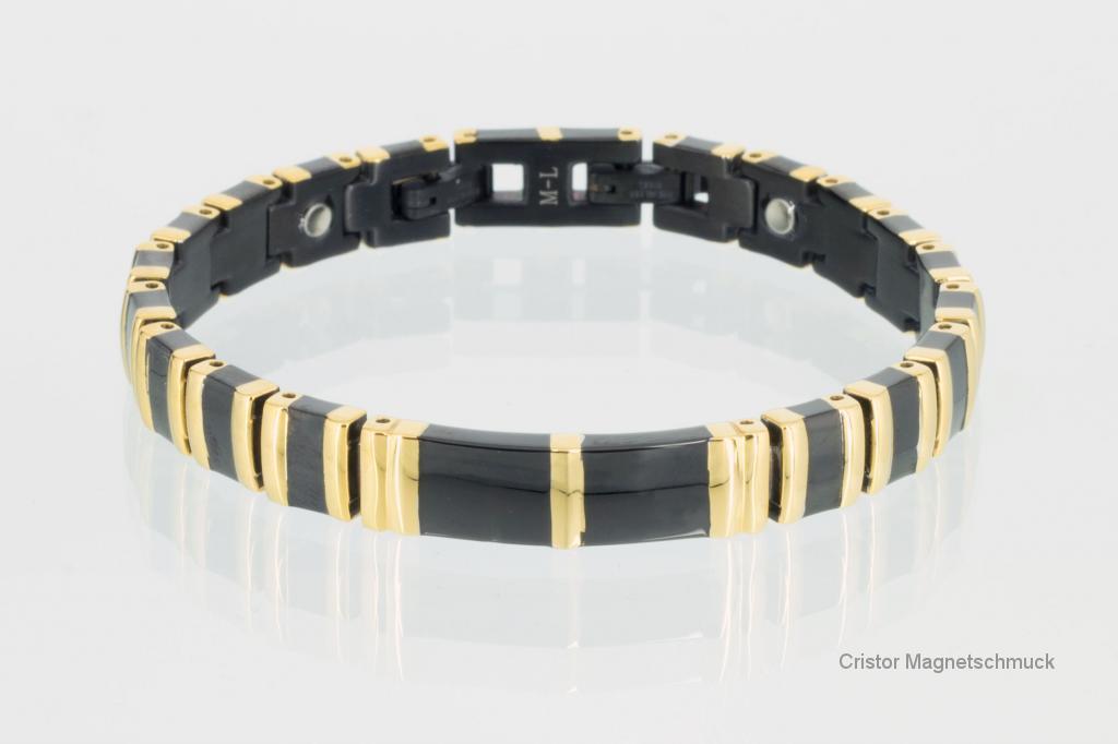 8242BLG - Magnetarmband gold schwarz