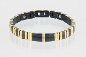 Magnetarmband gold schwarz - 8242blg