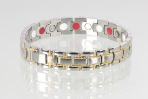 E8021Bb - 3-Elemente Armband bicolor