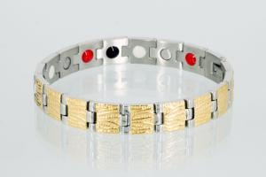 E8421B - 4-Elemente Armband bicolor