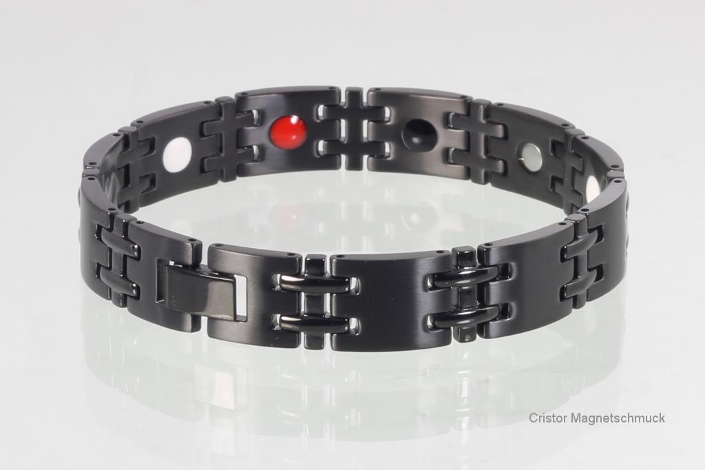 E8075BL - 4-Elemente Armband schwarz