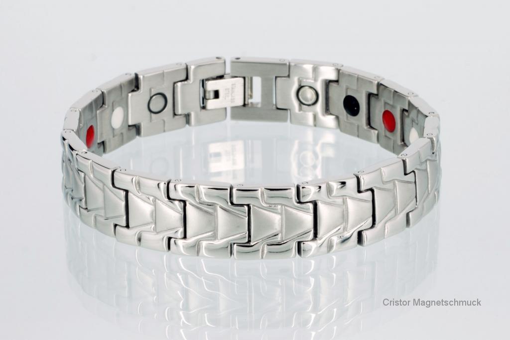 E8019S - 4-Elemente Armband silberfarben