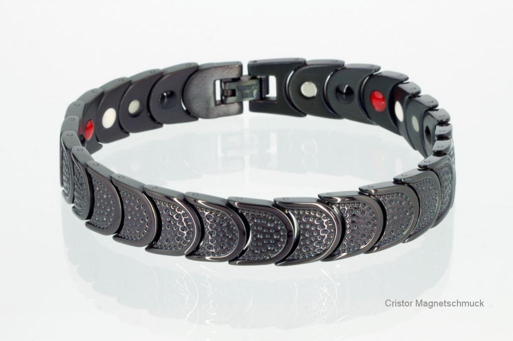 E8283BL - 4-Elemente Armband schwarz