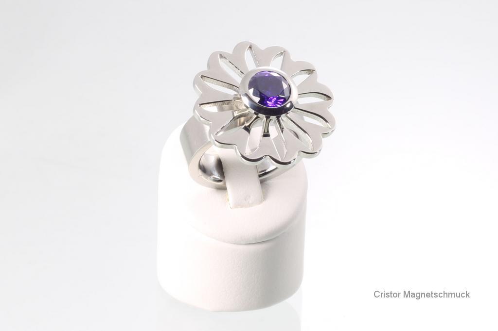 WSRSet3007 - Wechselringset silber purple