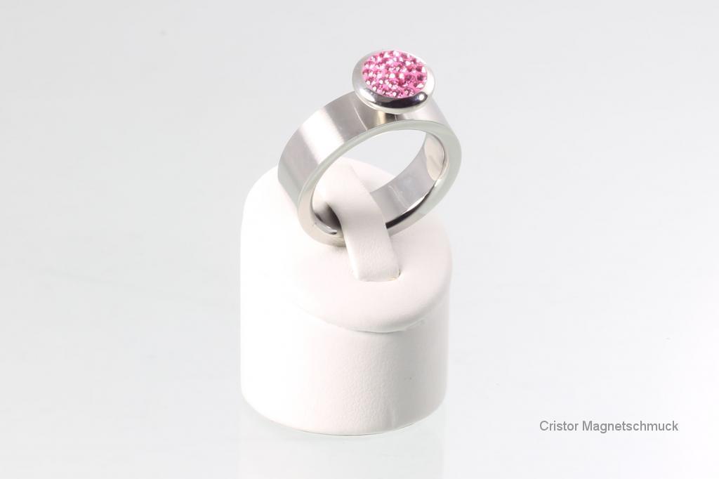 WSRSet2114 - Wechselringset pink multistone