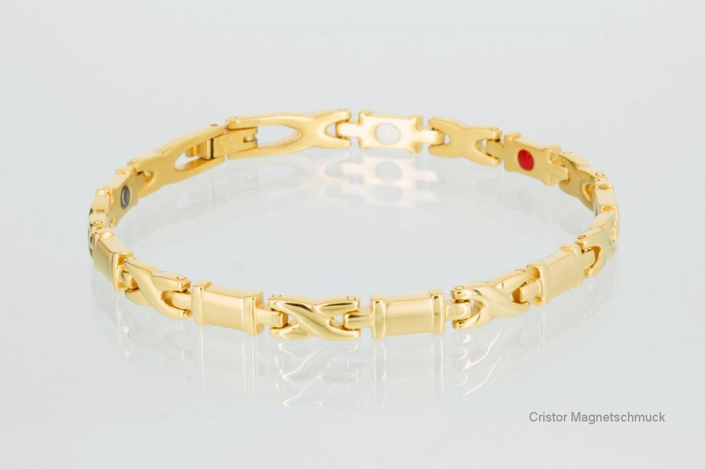 E8005G - 4-Elemente Armband goldfarben