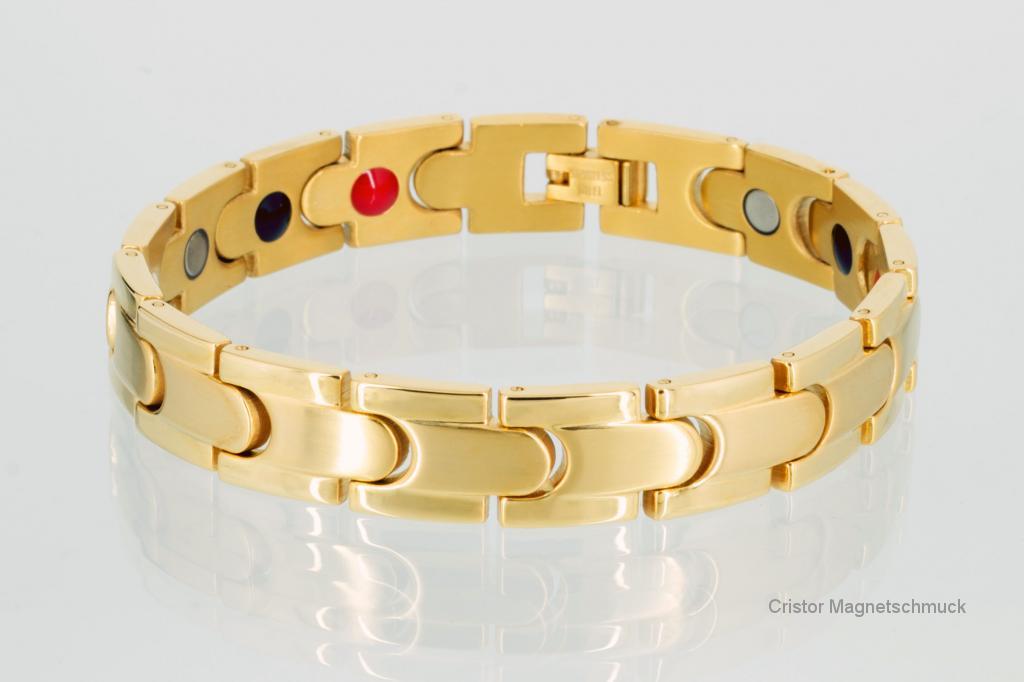 E8062G - 4-Elemente Armband goldfarben