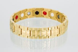 E8019G - 4-Elemente Armband goldfarben