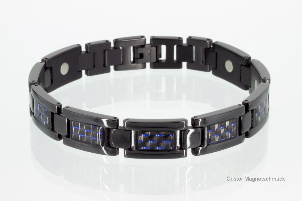 T8201BLSet - Titan-Magnetschmuckset schwarz