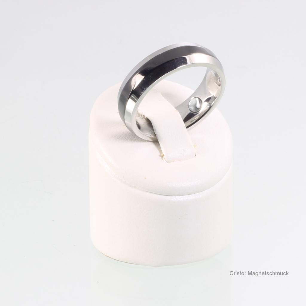 energiearmband und ring im set silber schwarz. Black Bedroom Furniture Sets. Home Design Ideas