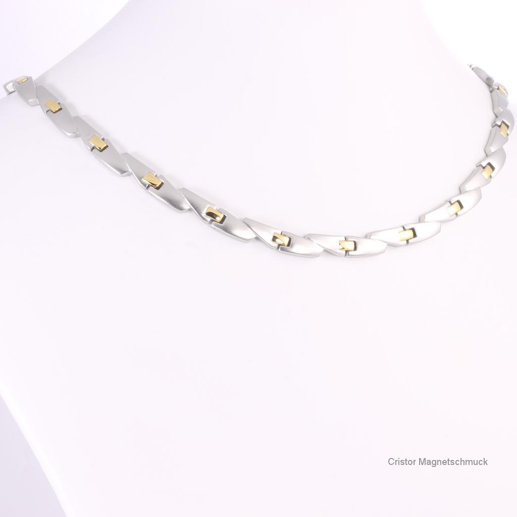 H9016BSet - Halskette und Energiearmband im Set bicolor