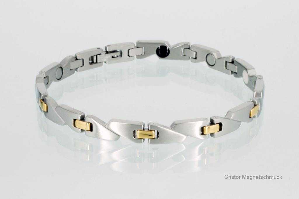 E8214B - 4-Elemente Armband bicolor