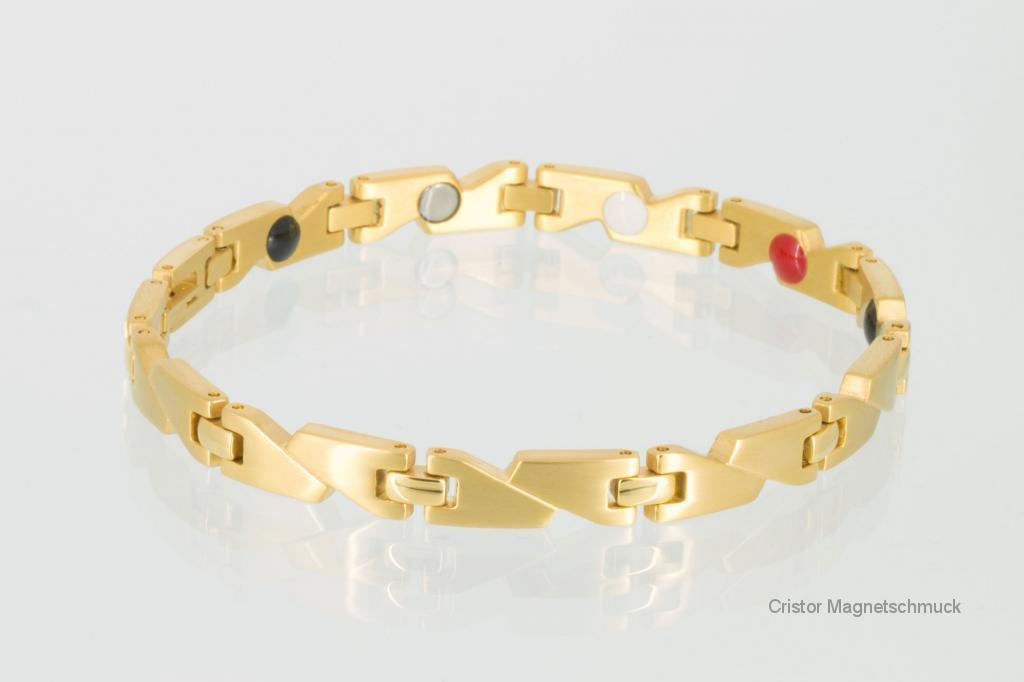 E8214G - 4-Elemente Armband goldfarben