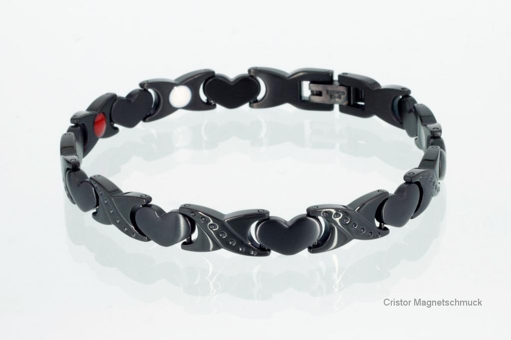 E8050BL - 4-Elemente Armband schwarz