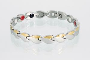 E8123B - 4-Elemente Armband bicolor