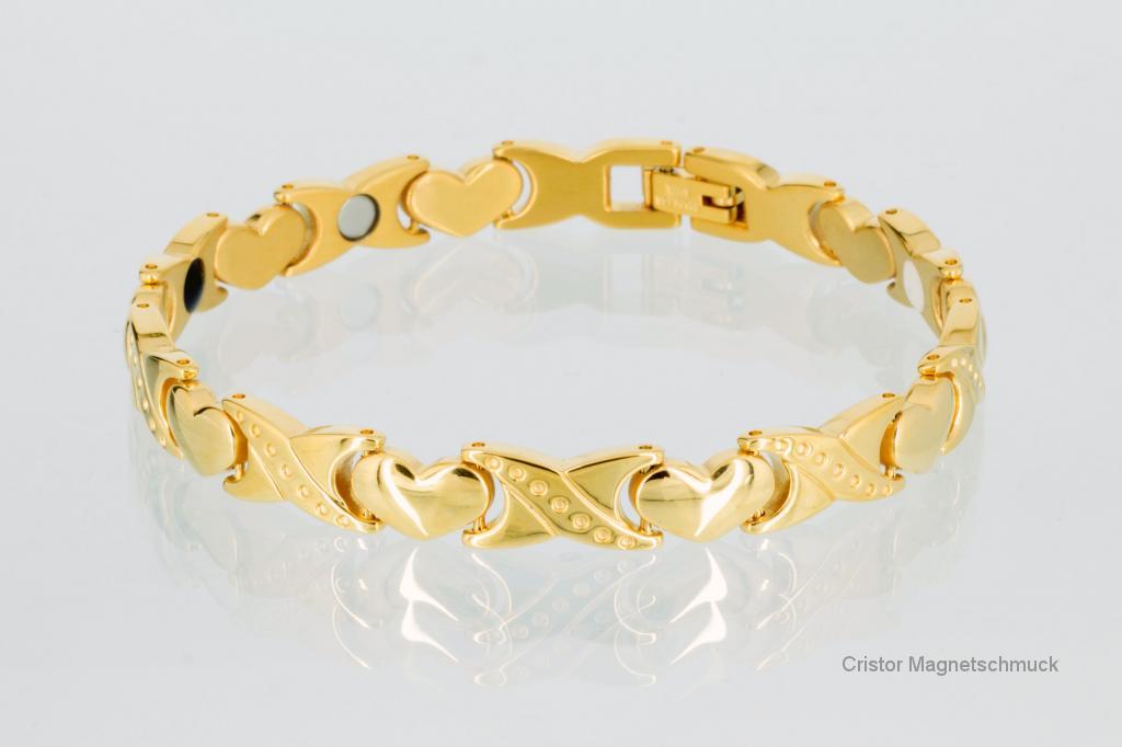 E8050G2 - 4-Elemente Armband goldfarben