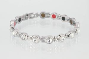 E8530SZb - 3-Elemente Armband silberfarben mit Zirkoniasteinen