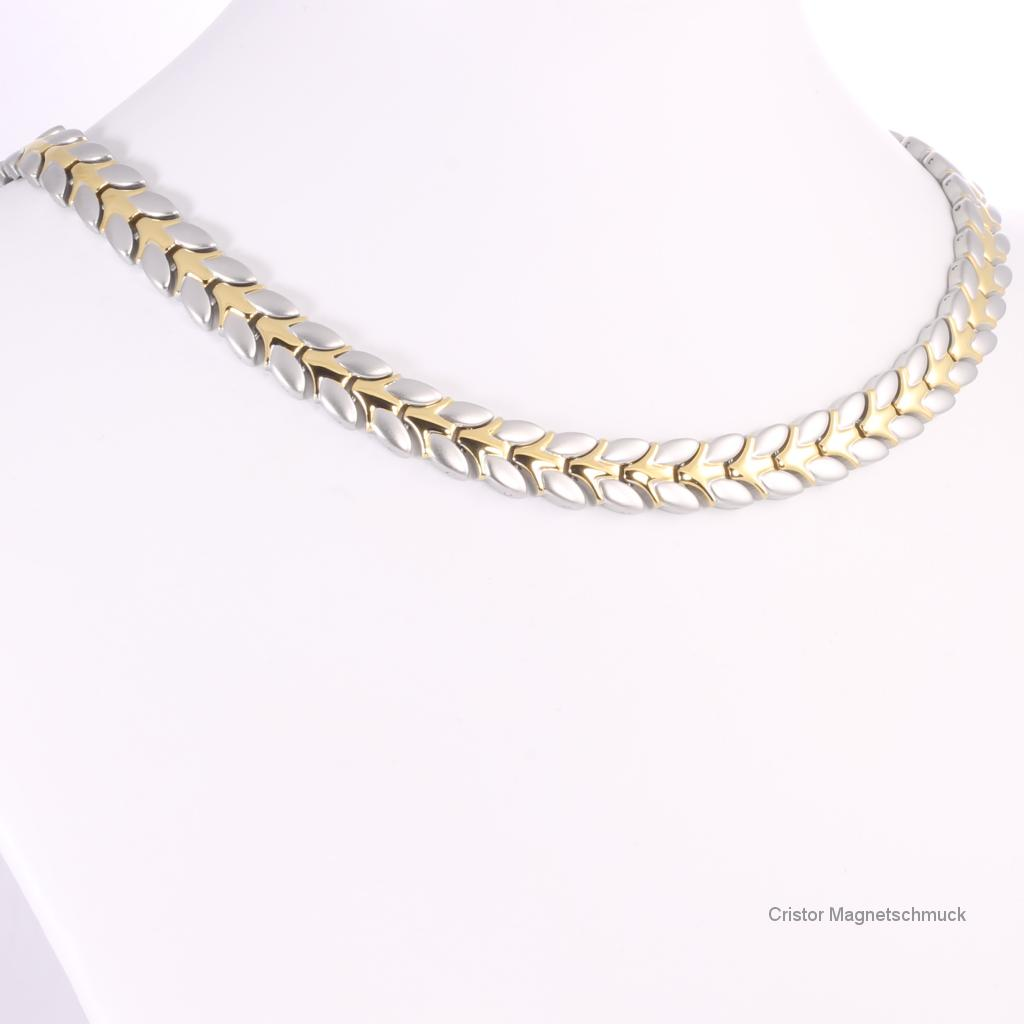 H9032BSet - Halskette und Armband im Set bicolor