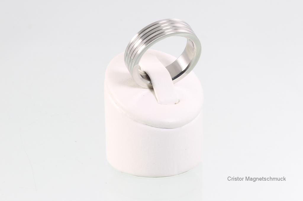 R3612Sa - Magnetring silberfarben
