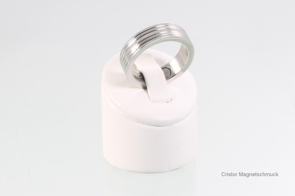 R3612Sb - Magnetring silberfarben