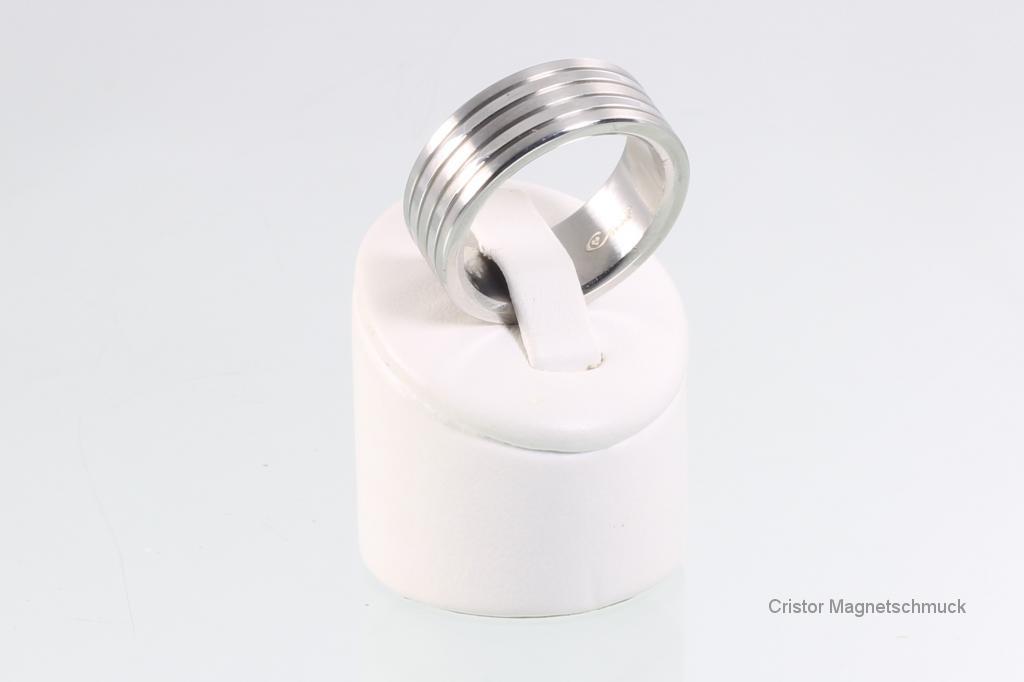 R3634S - Magnetring silberfarben