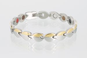 E8121B - 4-Elemente Armband bicolor