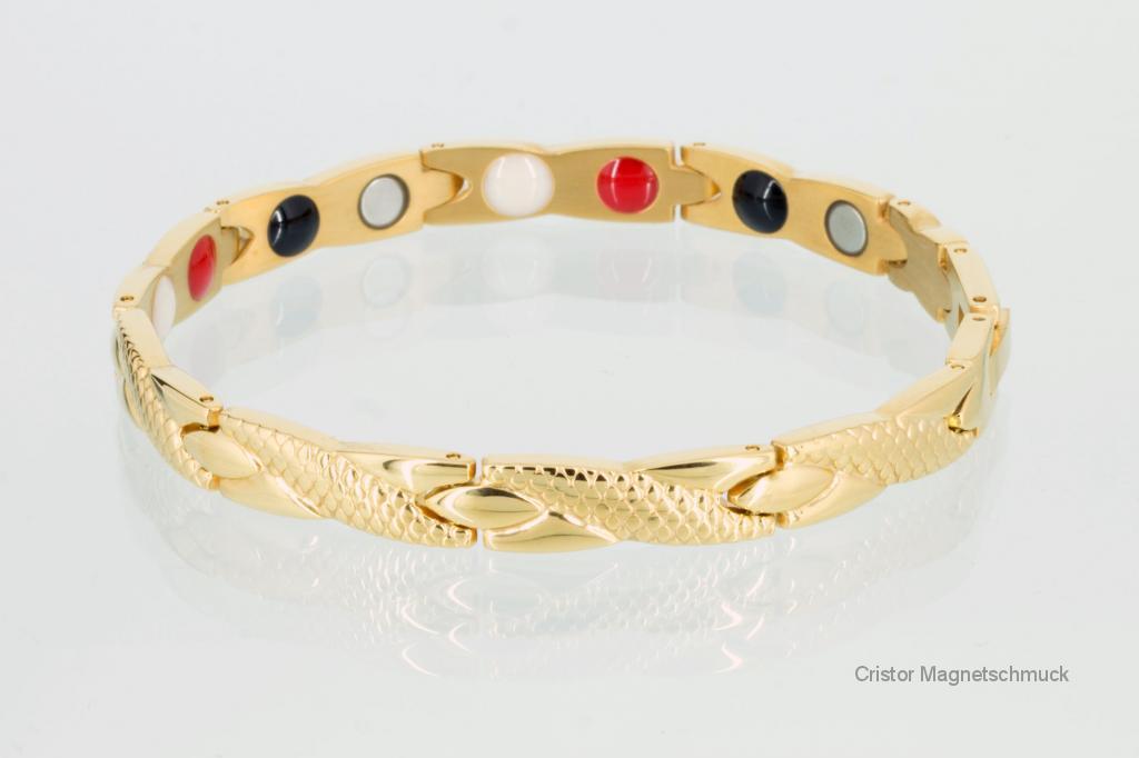 E8541G - 4-Elemente Armband goldfarben