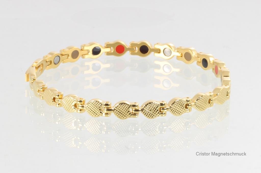 E8239G - 4-Elemente Armband goldfarben