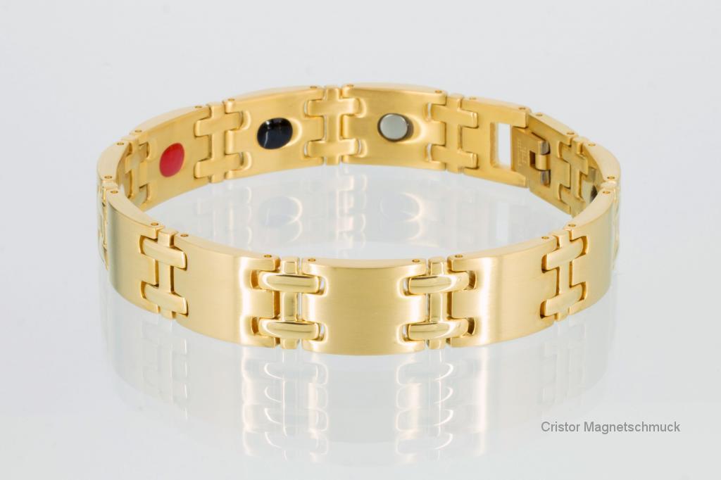 E8075G - 4-Elemente Armband goldfarben
