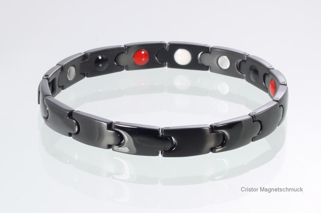 E8343BL - 4-Elemente Armband schwarz