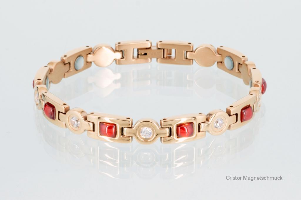 8849RGZ - Magnetarmband rosegoldfarben mit Zirkonia