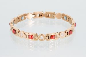 Magnetarmband rosegoldfarben mit Zirkonia - 8849rgz