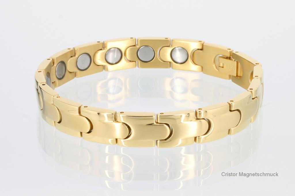 8062G4 - Magnetarmband goldfarben mit extra-starken Magneten