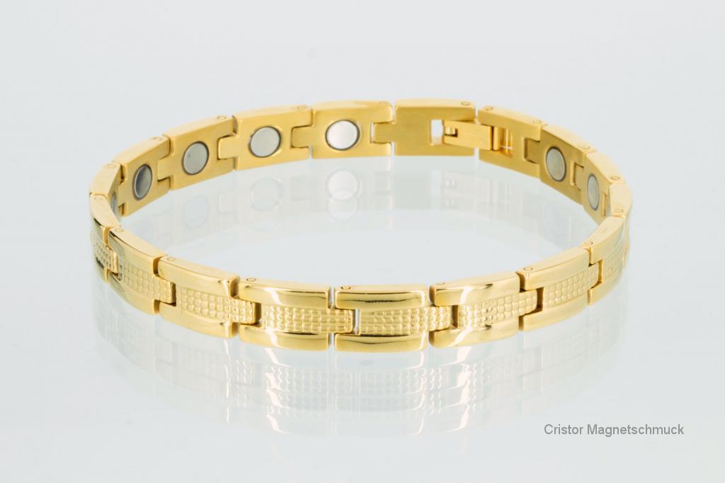 8006G2 - Magnetarmband goldfarben