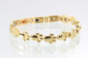 Energiearmband goldfarben mit Zirkoniasteinen - e8410gz