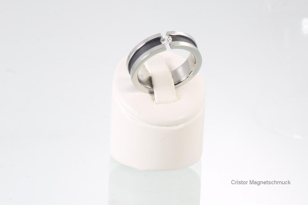 R3652BLSZ - Ring silber schwarz mit Zirkonia
