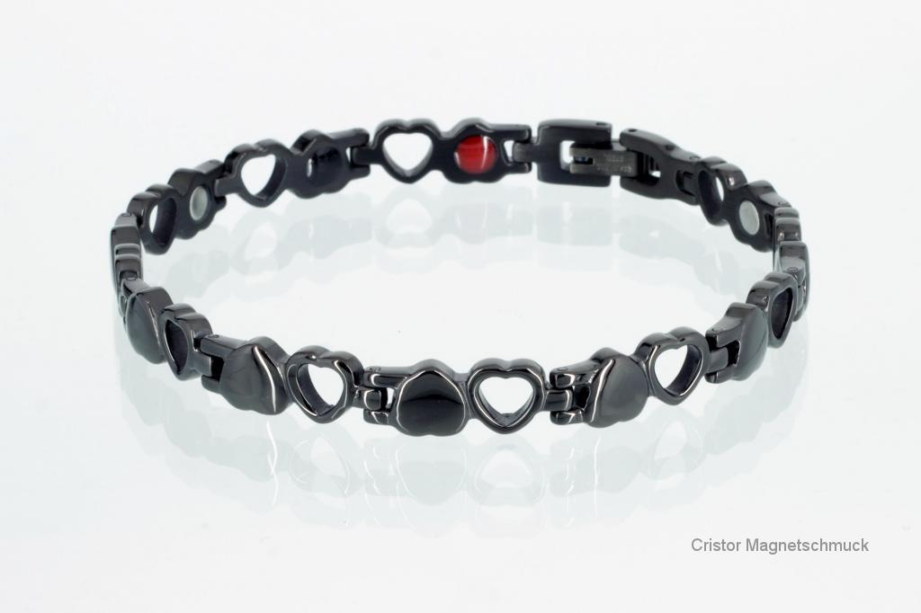 E8232BL2 - 4-Elemente Armband schwarz