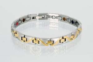 E8026B - 4-Elemente Armband bicolor