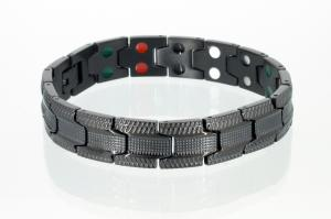 E8078BL - 5-Elemente Armband schwarz
